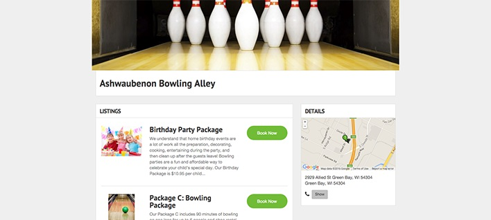 Get booked on the Bowling Alleys directory